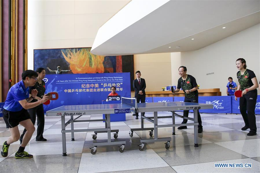 China-U.S. ping-pong diplomacy commemorated in NY, Chicago