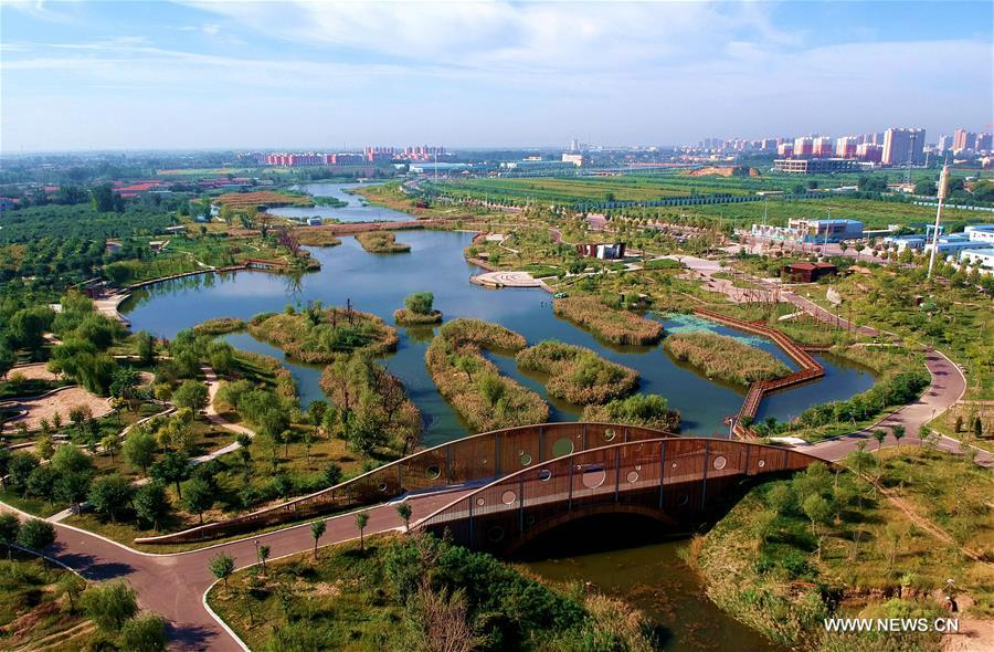 Scenery of Laoyanhe ecological park in N China