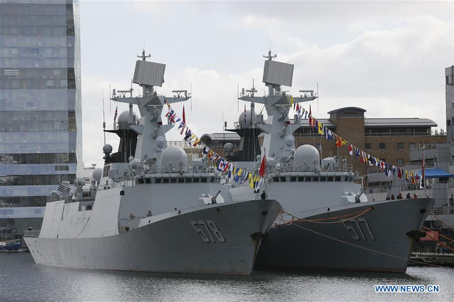 Chinese escort fleet arrives in London for friendly visit