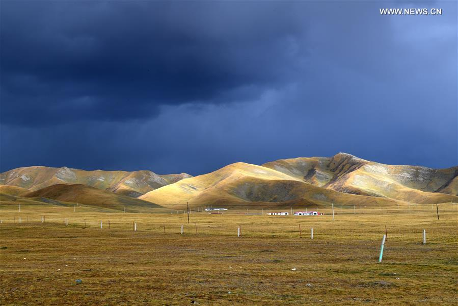 Autumn scenery of NW China's Qinghai