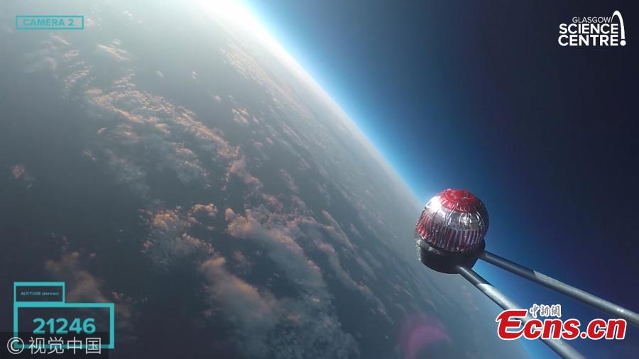 Scientists launch teacake 37,007 meters into space
