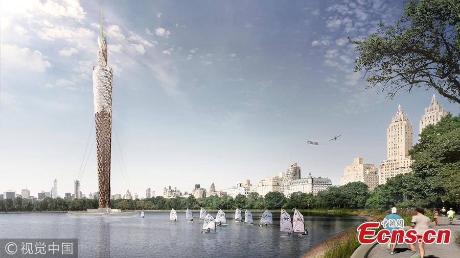 Design studio proposes world's tallest wooden tower in Central Park