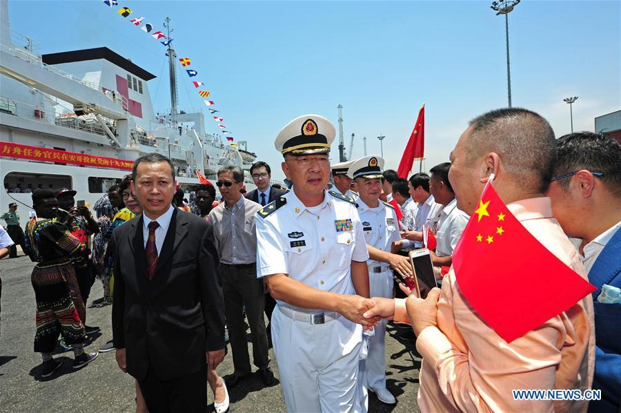 Chinese naval hospital ship Peace Ark arrives in Angola, provides free medical services