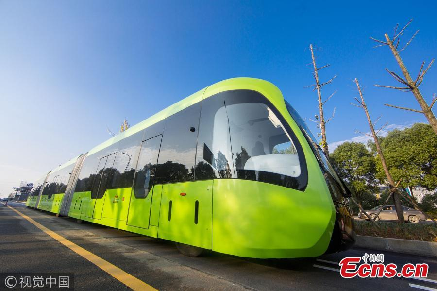 Test run of Autonomous Rail Rapid Transit starts in China's Hunan
