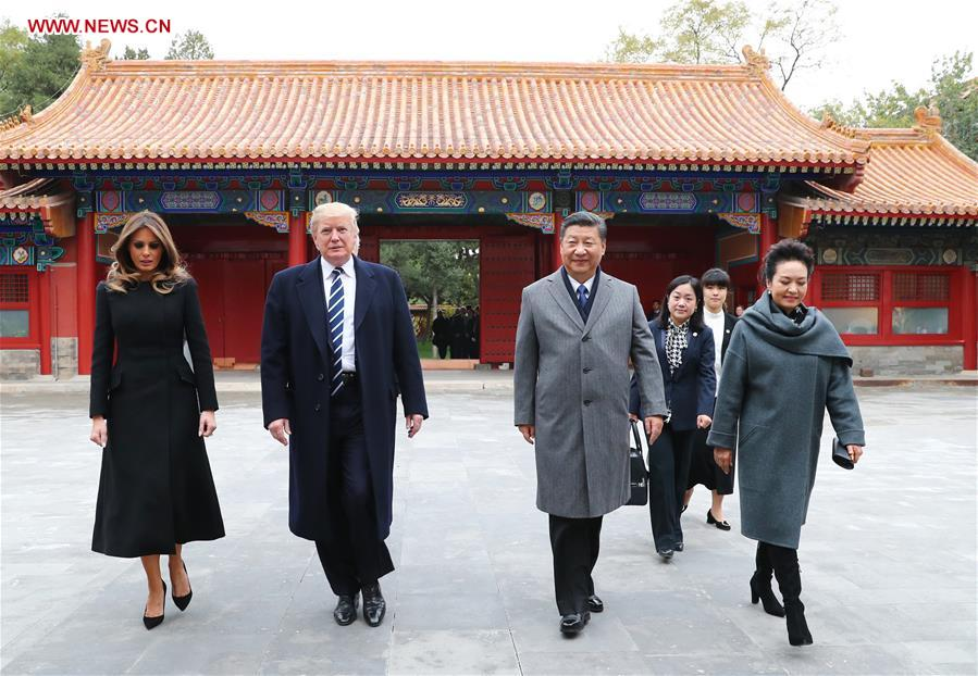 Xi welcomes Trump to Beijing's Palace Museum