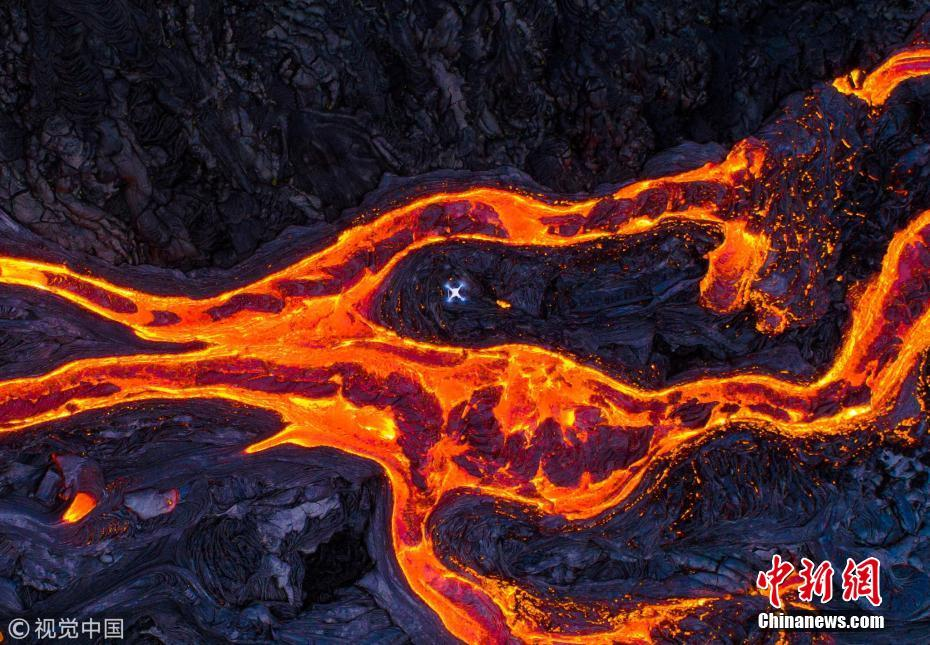 Can't stand the heat: drone camera melts while shooting hot lava