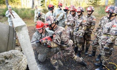 China, U.S. militaries conduct joint disaster relief drills