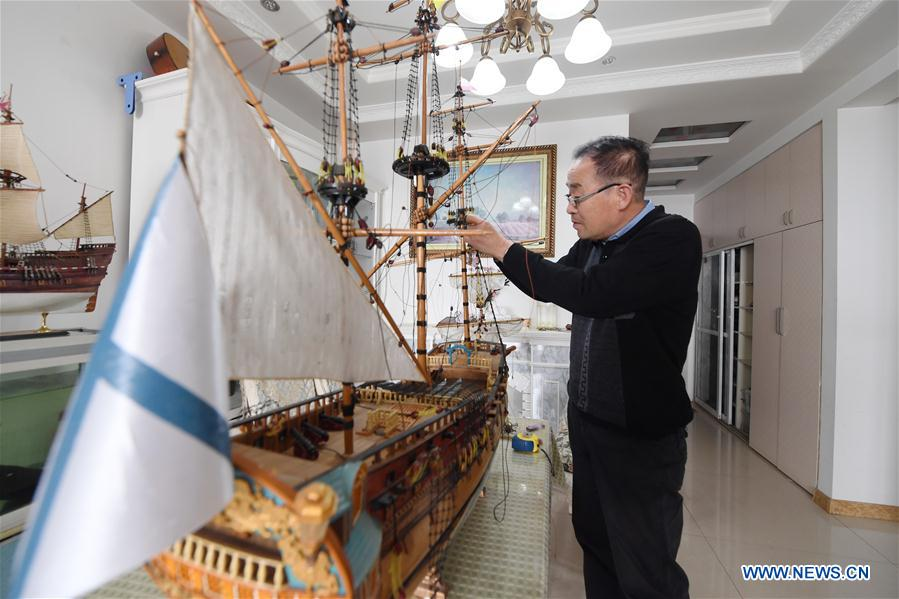Chinese retiree becomes model ship master