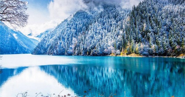 Mystical Jiuzhaigou Valley after snow