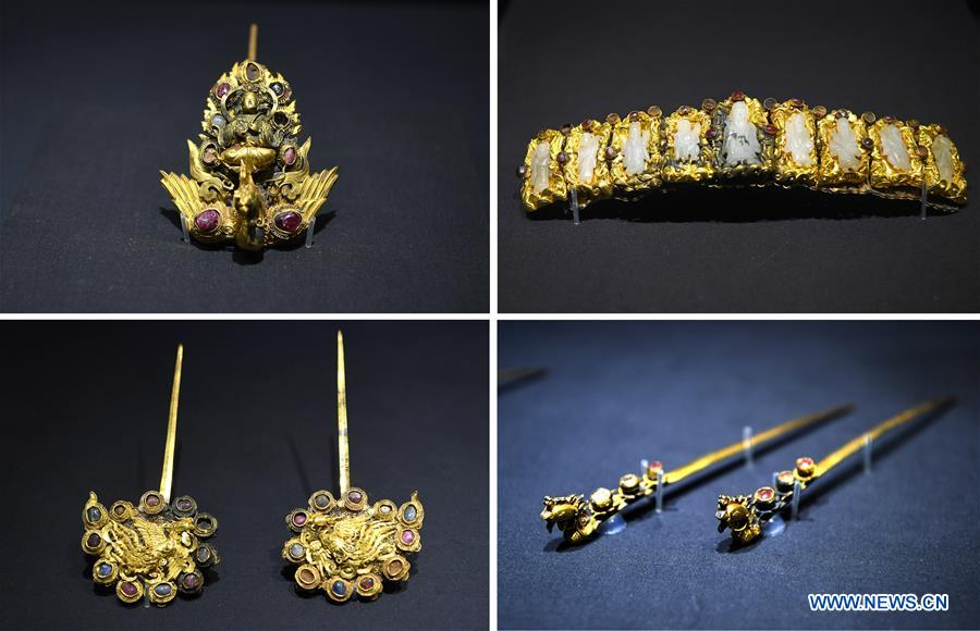 Jewelry of Ming Dynasty on exhibition in Jiangxi