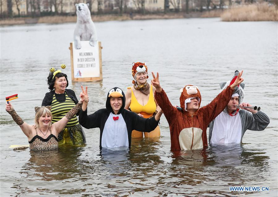 Winter Swimming Carnival held at Oranke Lake in Germany