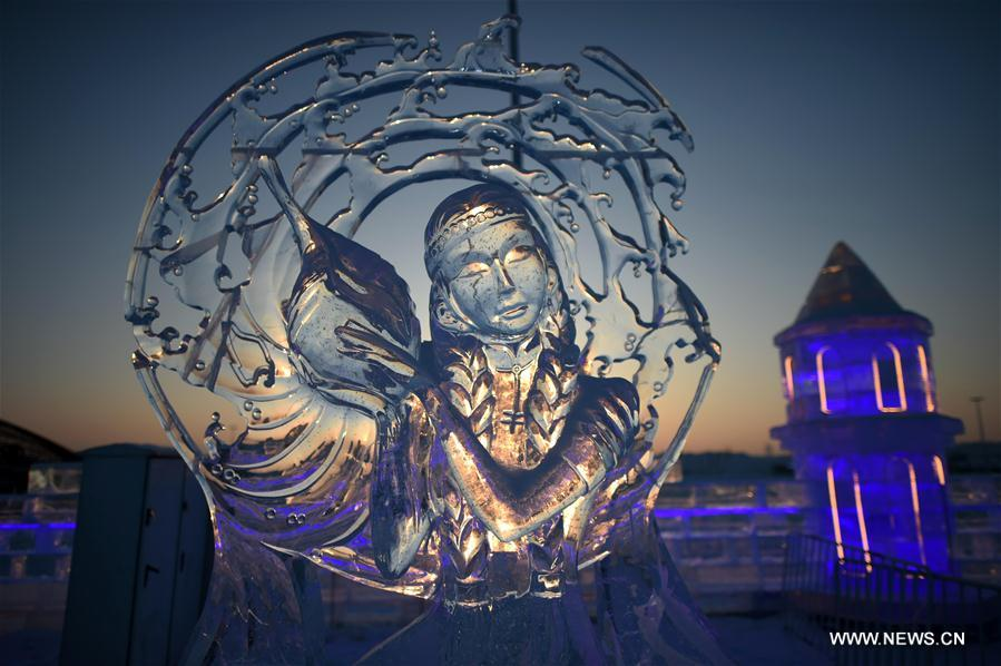 A look at int'l ice sculpture competition in NE China