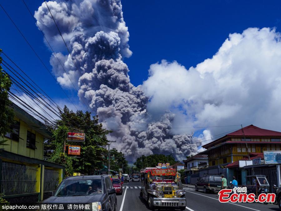 Violent explosion at the Philippines' most active volcano