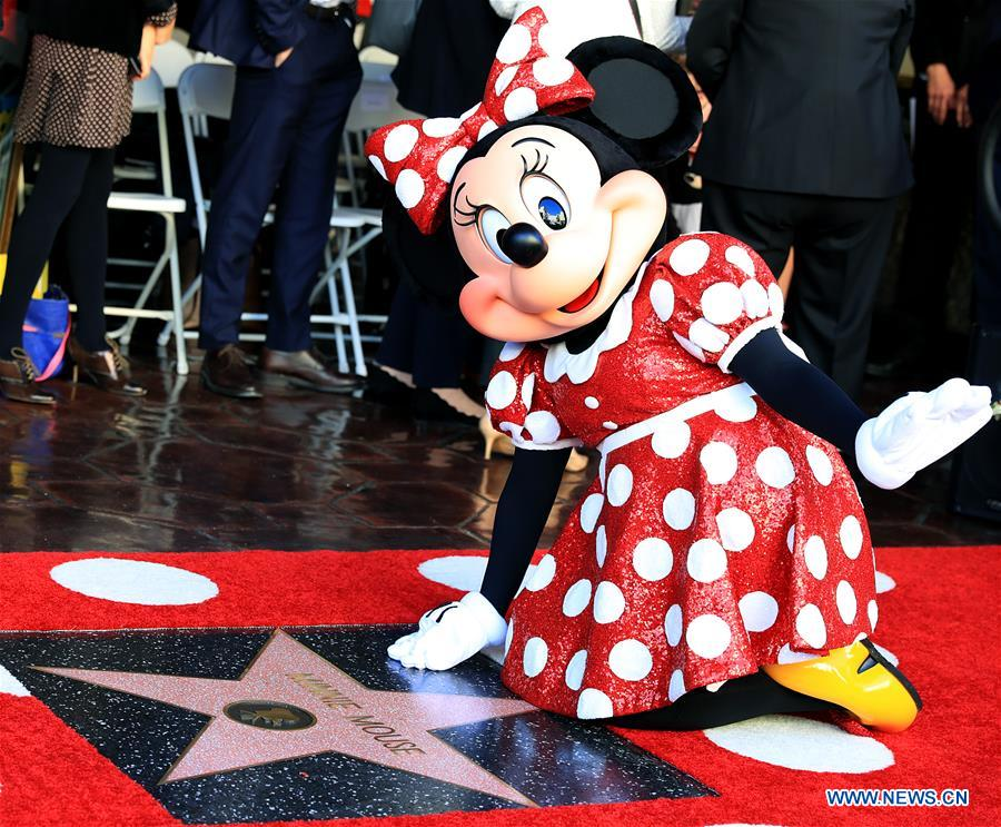 Minnie Mouse honored with star on Hollywood Walk of Fame