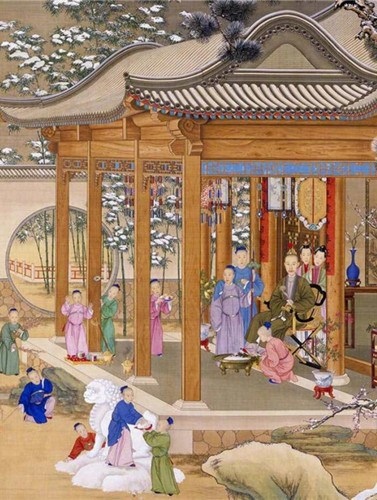 How did the ancient royal court celebrate Spring Festival?