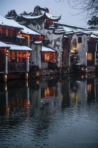 Wuzhen's beauty in snow