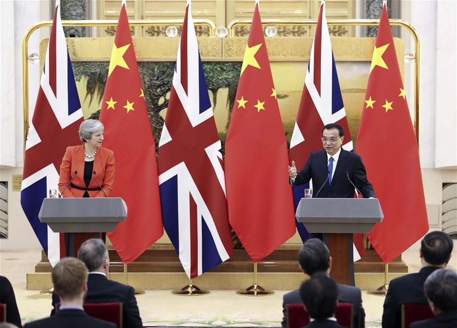 Premier Li meets with British prime minister