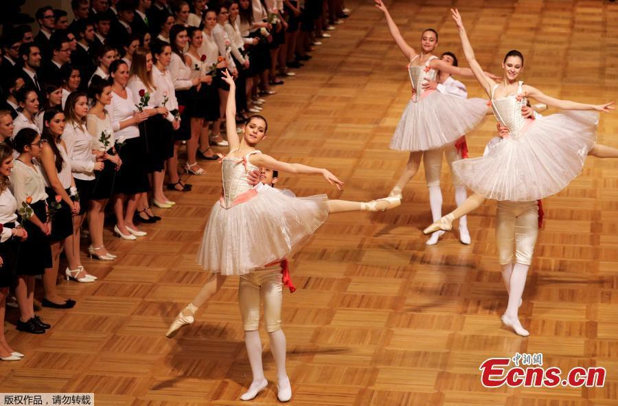 Dancers prepare for The Opera Ball in Vienna