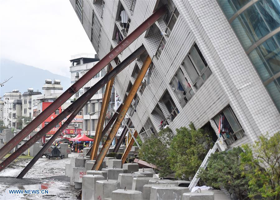 4 mainland tourists die in Taiwan earthquake, 5 trapped