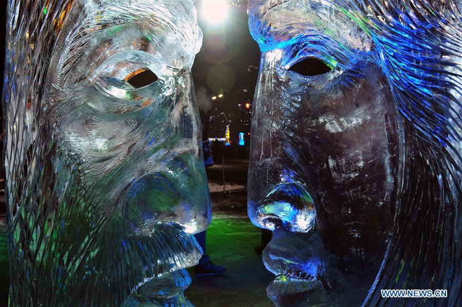 Dream-themed ice sculpture festival held in Latvia