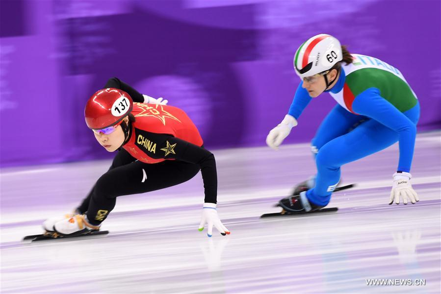 China advances to final of women's 3000m relay heat of short track speed skating