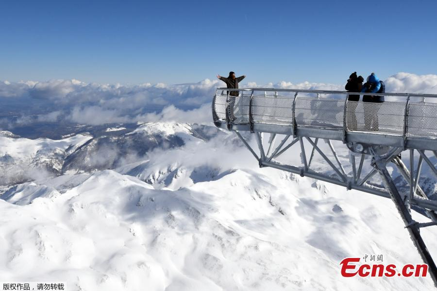 Observatory platform opens on France's tallest mountain