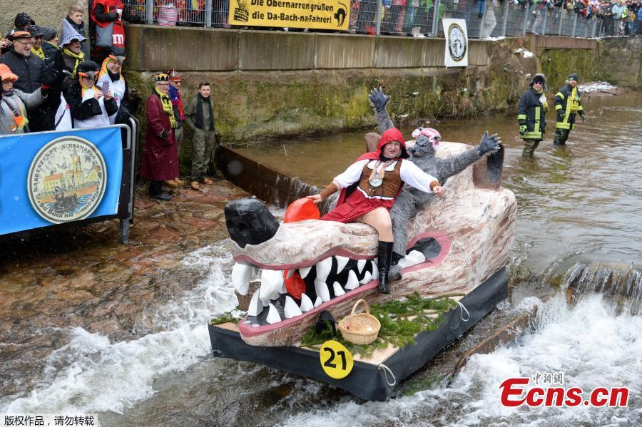 Raft contest in Germany's Black Forest town