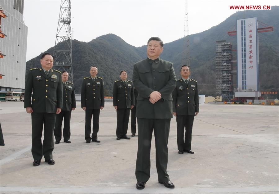 Xi visits BeiDou-3 launch site