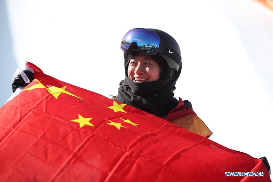 Liu Jiayu wins halfpipe silver at PyeongChang Olympics