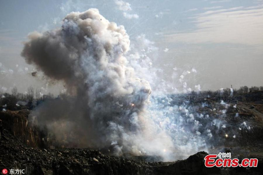 Shenyang destroys thousands of illegal fireworks