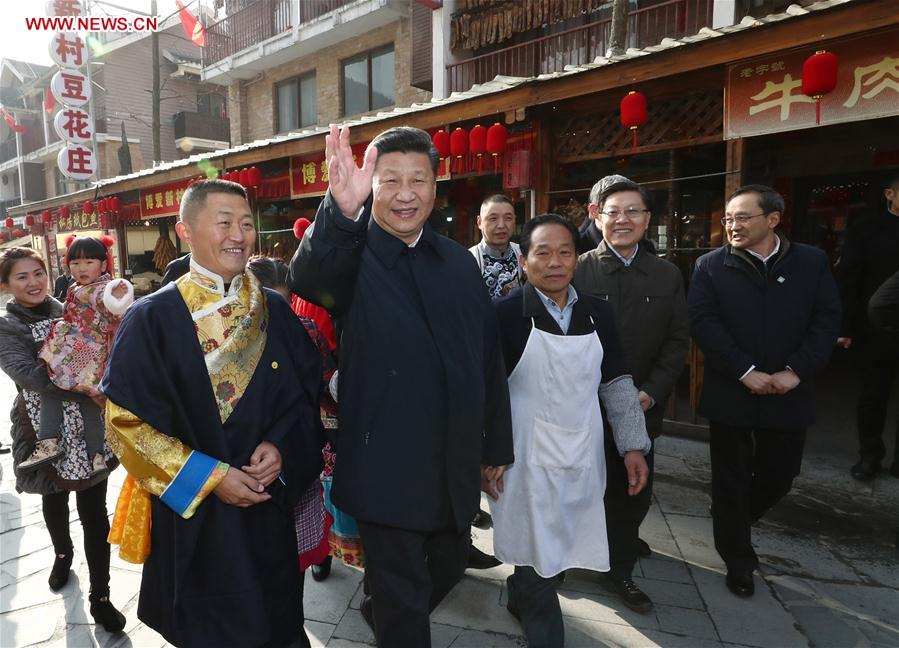 'My job is to serve the people,' Xi says in New Year inspection