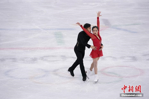 China wins silver medal in figure skating pairs