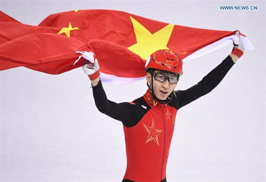 Wu Dajing wins China's first gold at PyeongChang 2018 with world record