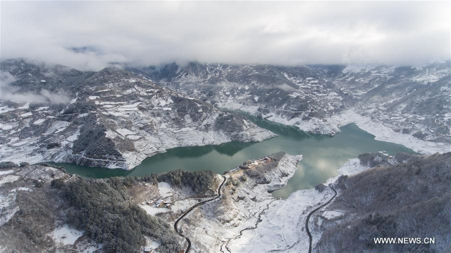 Snow scenery in China's Sichuan