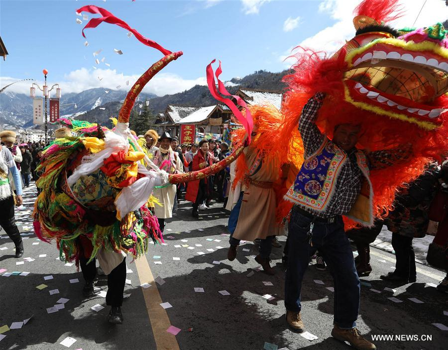 People of Tibetan ethnic group celebrate Shangjiu Festival