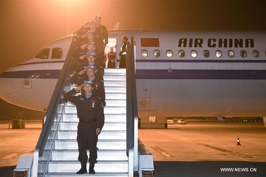 Chinese peacekeepers return from South Sudan