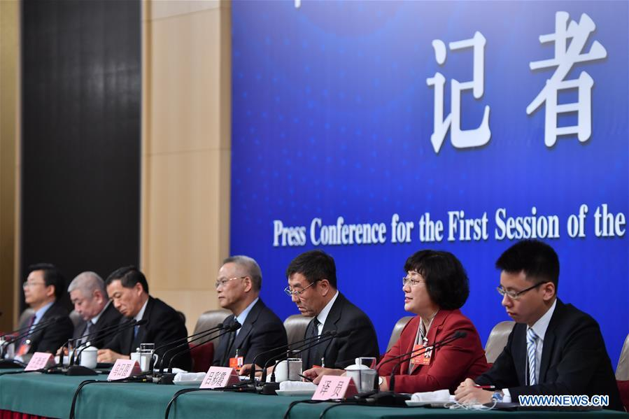 Press conference on legislation work of NPC held