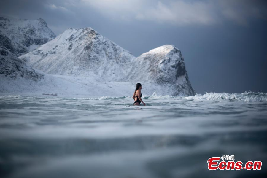 Dare to swim in Arctic Circle