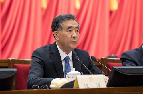 Wang Yang presides over meeting of 13th CPPCC National Committee