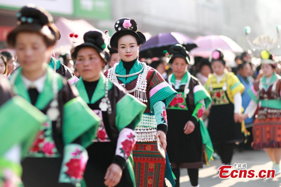 People of Miao ethnic group celebrate 'Wanghui' festival