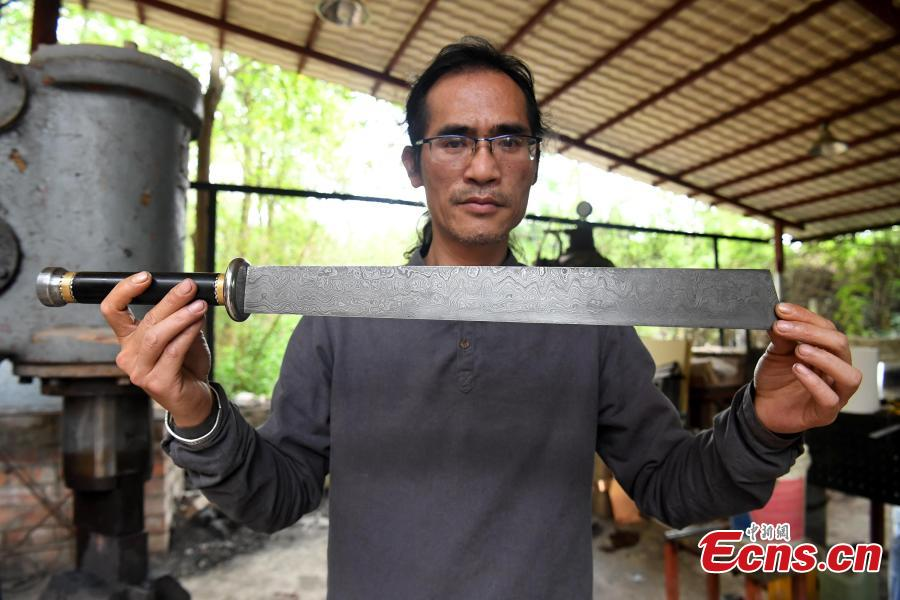 Man fascinated with sword-making for nine years