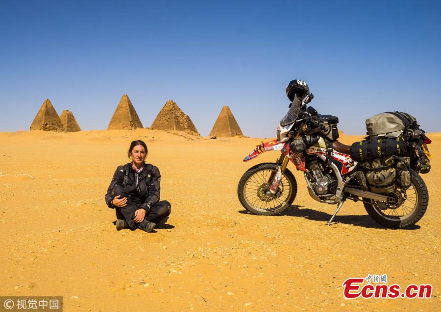 Woman, 42, becomes first Briton to visit 7 continents by motorbike