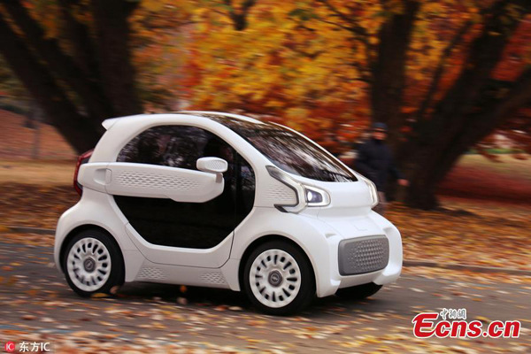 450kg 3D printed electric car ready for mass production