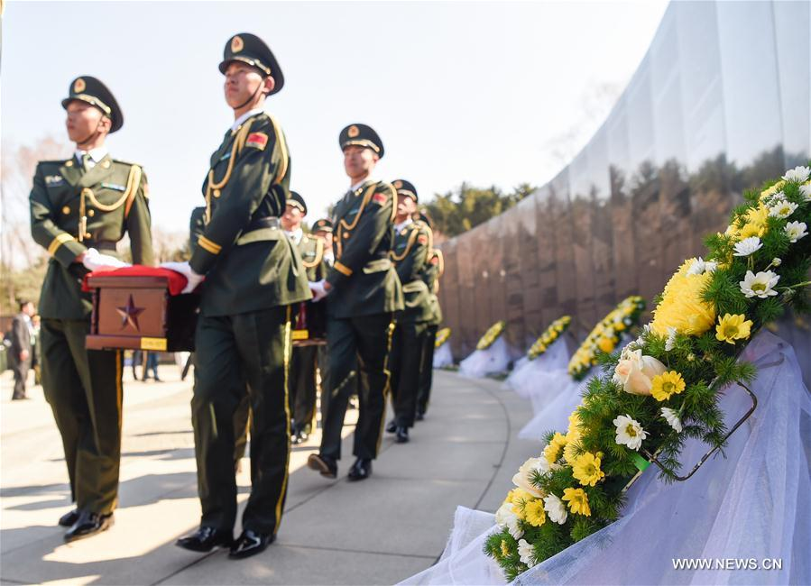 Burial ceremony held for remains of Korean War soldiers