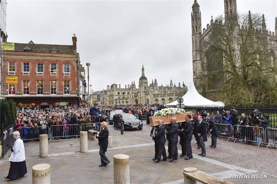 Thousands mourn Stephen Hawking as funeral held in Cambridge