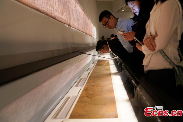 Rare Tang Dynasty scroll exhibited to celebrate academy's 100th anniversary