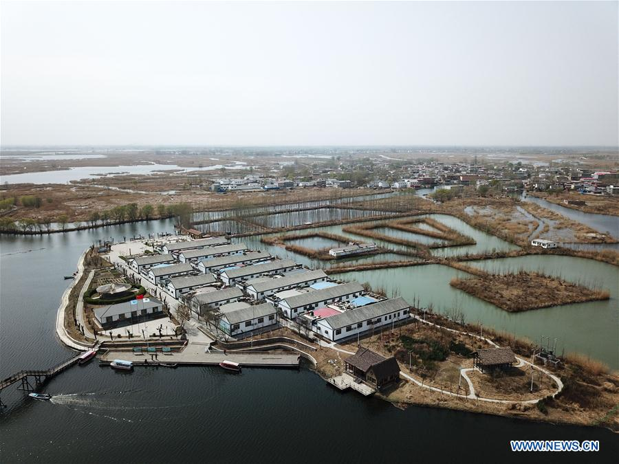 One year on: aerial view of Xiongan New Area