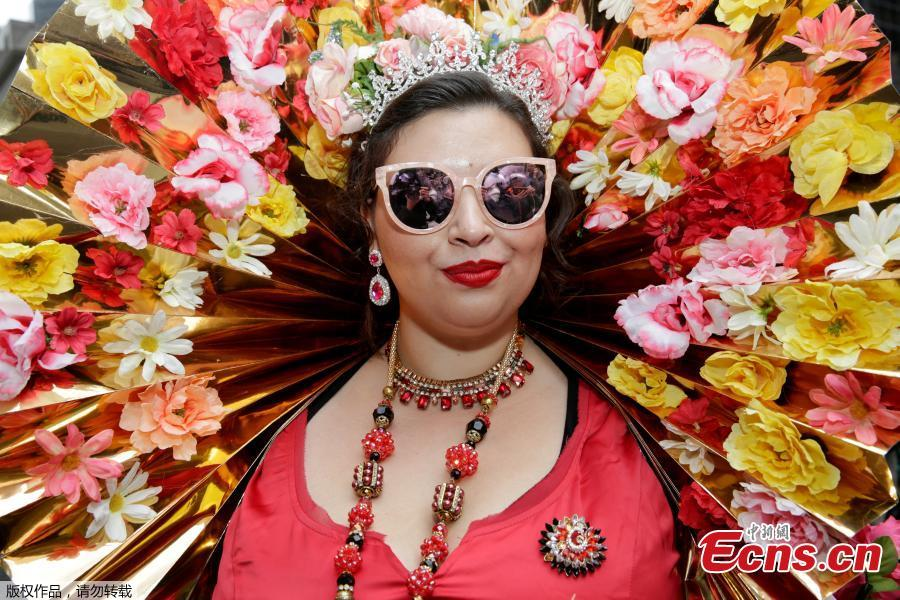 Celebrants show off their best bonnets in New York festival
