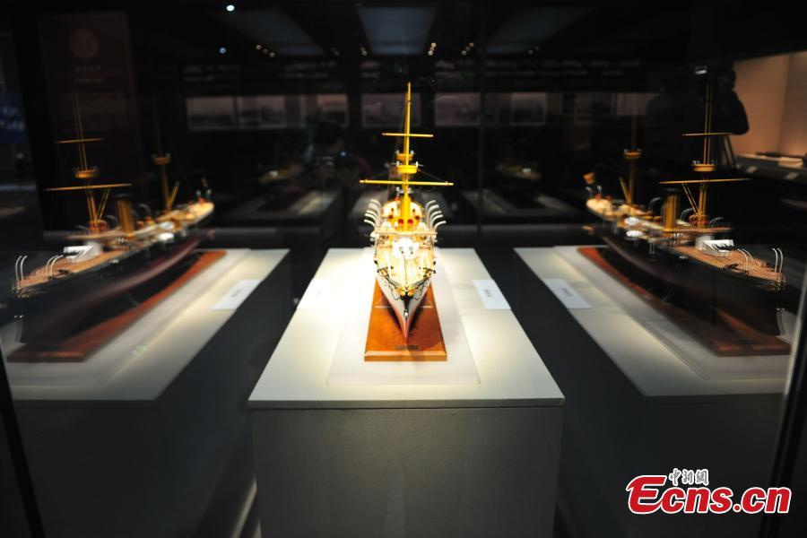 Relics from warship Zhiyuan meet the public in Shenyang