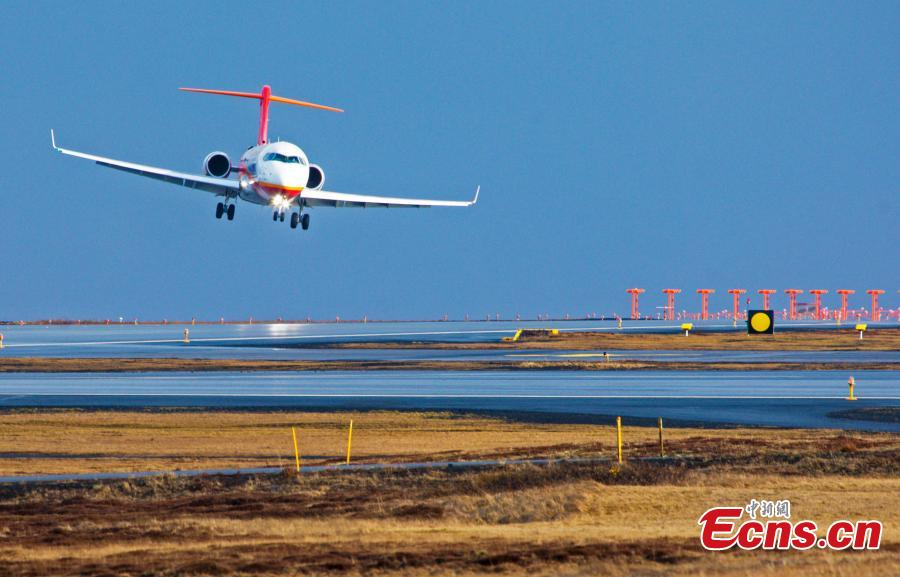 China's first homegrown regional jetliner completes crosswind flight test